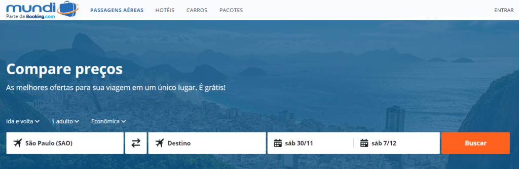 Screenshot do site Mundi