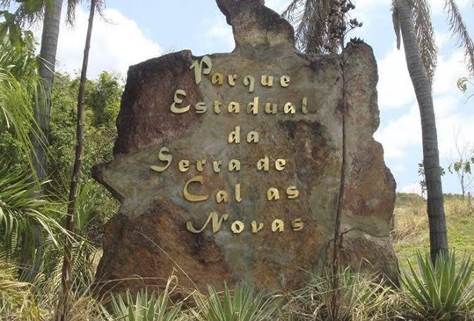 Letreiro do Parque Estadual da Serra de Caldas Novas
